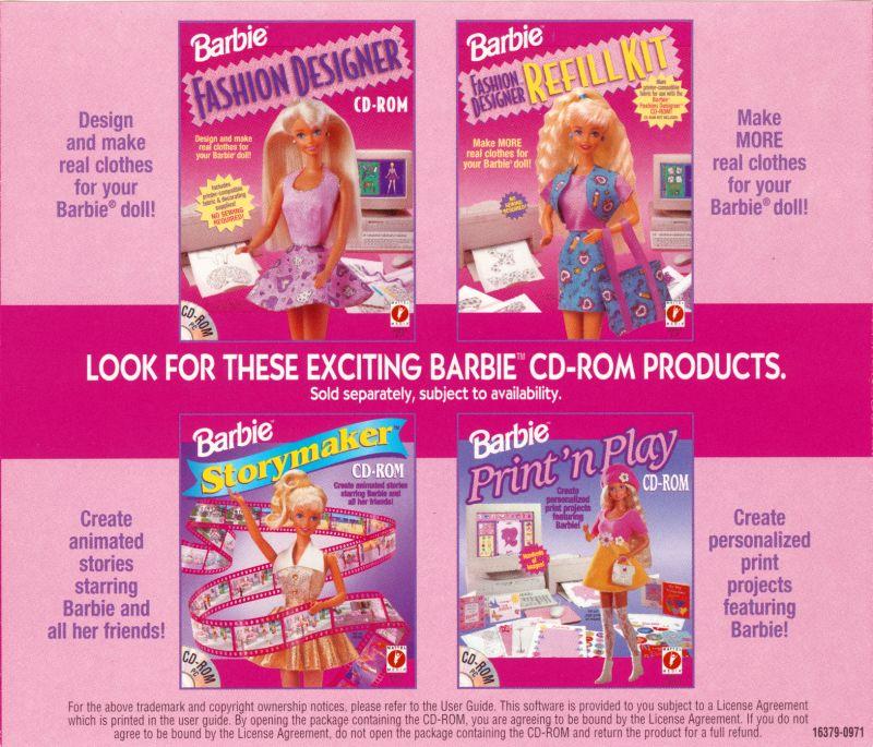 Barbie Fashion Designer Details Launchbox Games Database