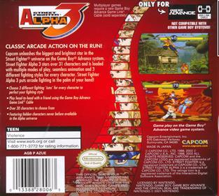 Street Fighter Alpha 3 - Box - Back