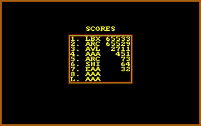 Challenger - Screenshot - High Scores