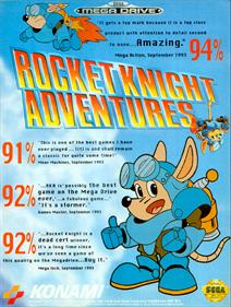 Rocket Knight Adventures - Advertisement Flyer - Front