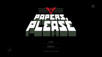 Papers, Please - Screenshot - Game Title