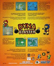 Dyna Blaster - Box - Back