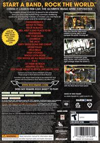 AC/DC Live: Rock Band Track Pack - Box - Back