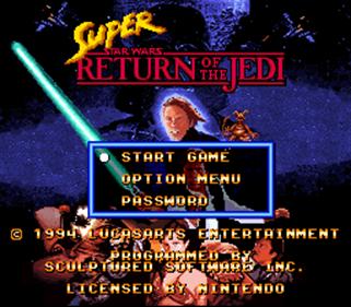 Super Star Wars: Return of the Jedi - Screenshot - Game Title