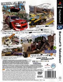 Burnout 3: Takedown - Box - Back