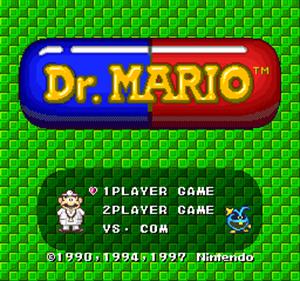 Dr. Mario BS Ban - Screenshot - Game Title