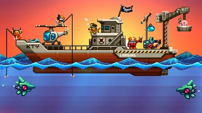 Aqua Kitty: Milk Mine Defender - Fanart - Background