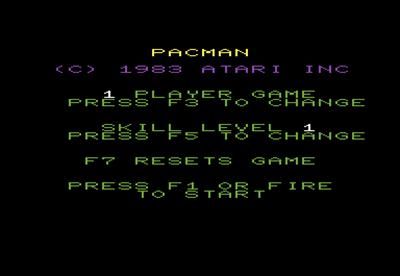 Pac-Man - Screenshot - Game Title