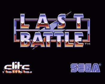 Last Battle - Screenshot - Game Title