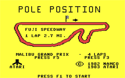 Pole Position - Screenshot - Game Title