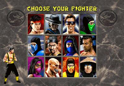 Mortal Kombat II - Screenshot - Game Select