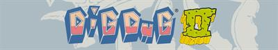 Dig Dug II: Trouble in Paradise - Banner