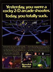 Nanotek Warrior - Advertisement Flyer - Front