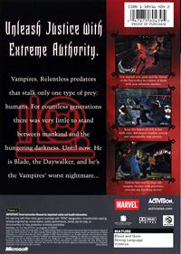 Blade II - Box - Back