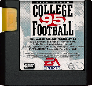 Bill Walsh College Football 95 - Cart - Front