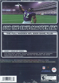 Madden NFL 2005: Collector's Edition - Box - Back