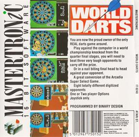 World Darts! - Box - Back