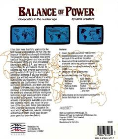 Balance of Power - Box - Back