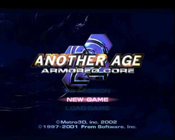 Armored Core 2: Another Age - Screenshot - Game Title