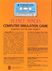 Planet Miners - Box - Back