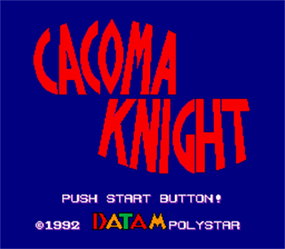 Cacoma Knight in Bizyland - Screenshot - Game Title