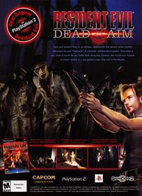 Resident Evil: Dead Aim - Advertisement Flyer - Front