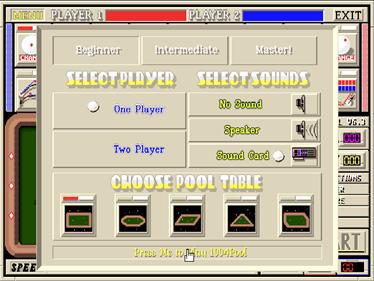 1994Pool+ - Screenshot - Game Select