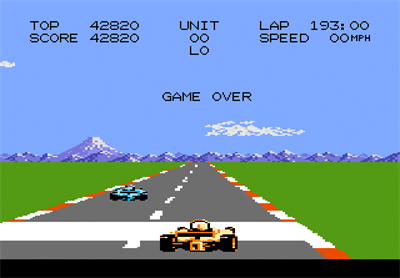Pole Position II - Screenshot - Game Over