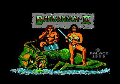 Barbarian II: The Dungeon of Drax - Screenshot - Game Title