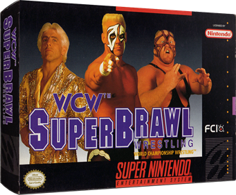 WCW SuperBrawl Wrestling - Box - 3D
