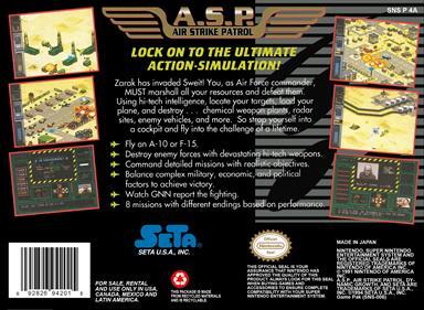 A.S.P.: Air Strike Patrol - Box - Back
