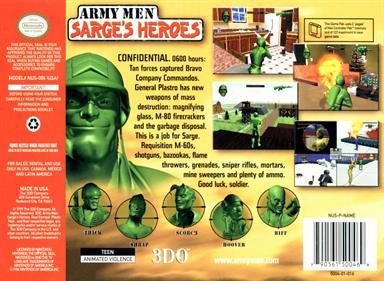 Army Men: Sarge's Heroes - Box - Back