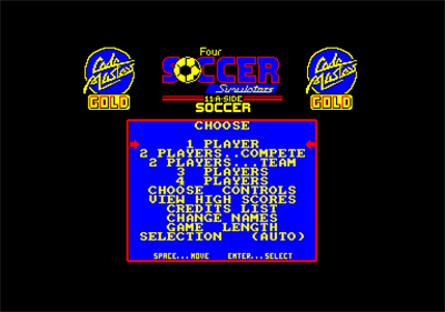 11 A Side Soccer - Screenshot - Game Title