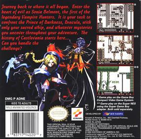 Castlevania Legends - Box - Back