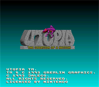 Utopia: The Creation of a Nation - Screenshot - Game Title