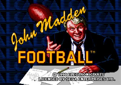 John Madden Football - Screenshot - Game Title