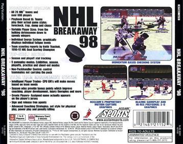 NHL Breakaway 98 - Box - Back