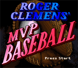 Roger Clemens' MVP Baseball - Screenshot - Game Title