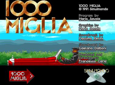 1000 Miglia - Screenshot - Game Title