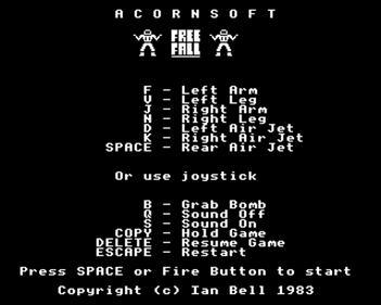 Free Fall  - Screenshot - Game Title
