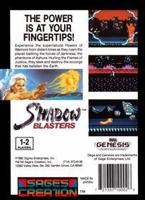 Shadow Blasters - Box - Back
