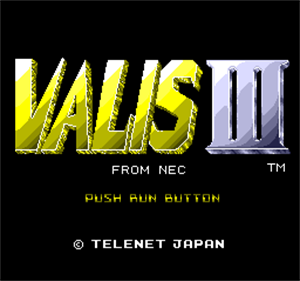 Valis III - Screenshot - Game Title