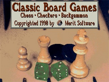 Classic Board Games - Screenshot - Game Title