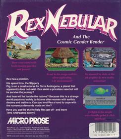 Rex Nebular and the Cosmic Gender Bender - Box - Back