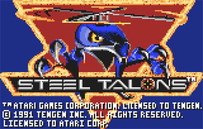 Steel Talons - Screenshot - Game Title