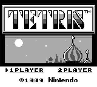 Tetris - Screenshot - Game Title