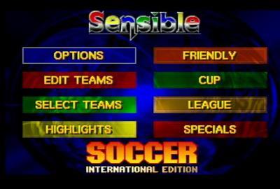 International Sensible Soccer - Screenshot - Game Select
