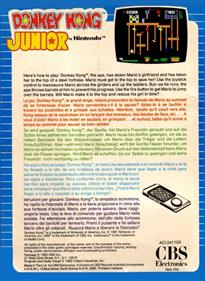 Donkey Kong Junior - Box - Back