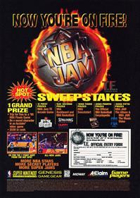 NBA Jam Tournament Edition - Advertisement Flyer - Front