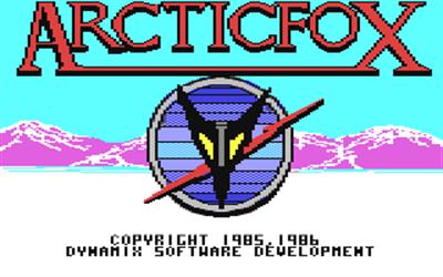 Arcticfox - Screenshot - Game Title